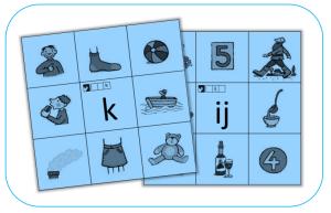 Knijpkaart - Auditief - Letters - Kern 3