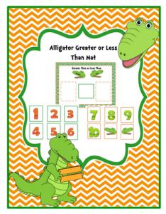 Vergelijken - tot 10 - Krokodil