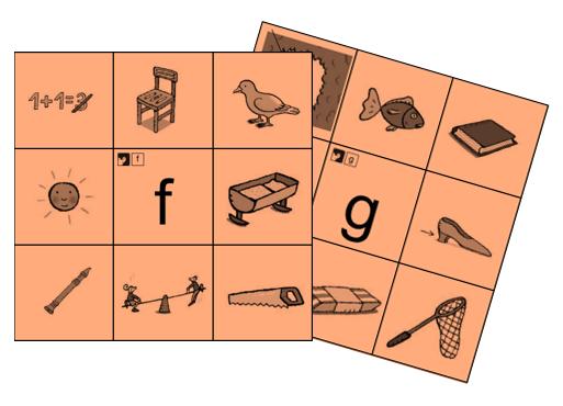 Knijpkaart - Auditief - Letters - Kern 6